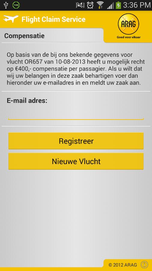 Flight Claim - screenshot