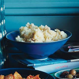 Smashed Potatoes with Roasted-Garlic Gravy.