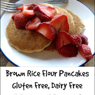 Brown Rice Flour Pancakes -- Gluten Free, Dairy Free.