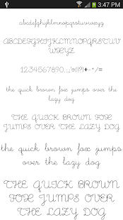 Fonts for FlipFont 50 #1 - screenshot thumbnail