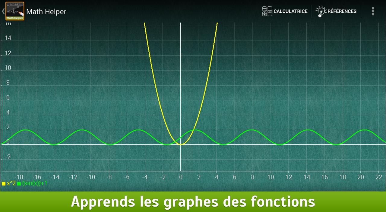 Math Helper: Algèbre et Calcul - screenshot
