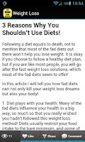 Screenshot of Fast Weight Loss Tips FREE