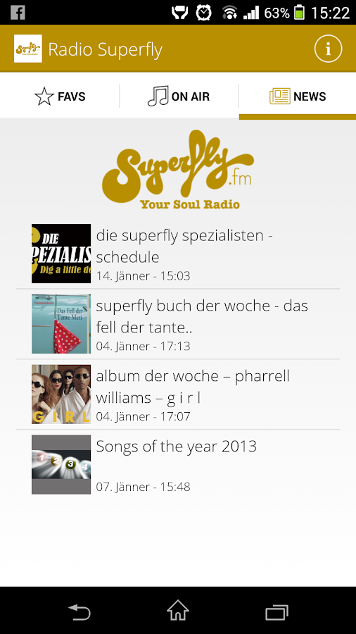 Radio Superfly- screenshot