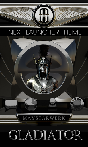 Next Launcher Theme Gladiator