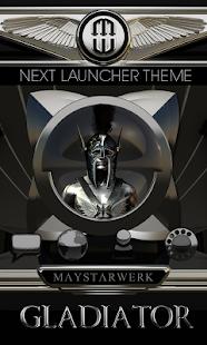 Next Launcher Theme Gladiator - náhled