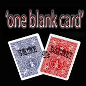 One Blank Card
