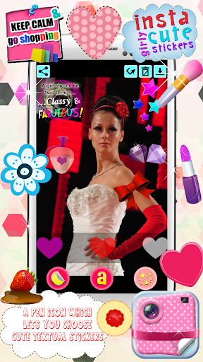 斯塔可愛的少女貼紙|玩攝影App免費|玩APPs