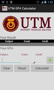 UTM GPA Calculator - screenshot thumbnail