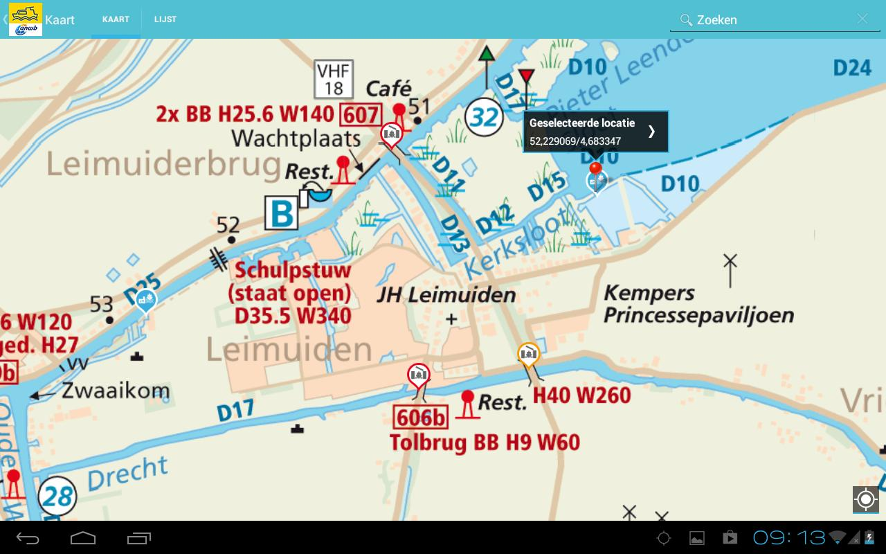 ANWB Waterkaarten - screenshot