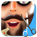 Hairy Beard Salon Messy Shave icon