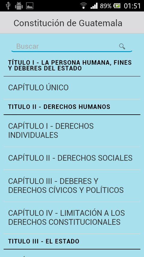 Constitución de Guatemala - screenshot