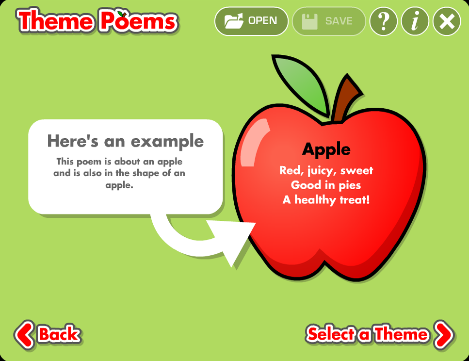 Theme Poems - screenshot