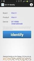 Screenshot of Galaxy SIII Identity