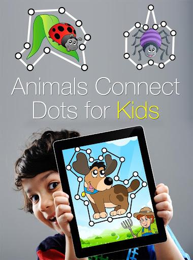 動物は子供のための点をつなぐ