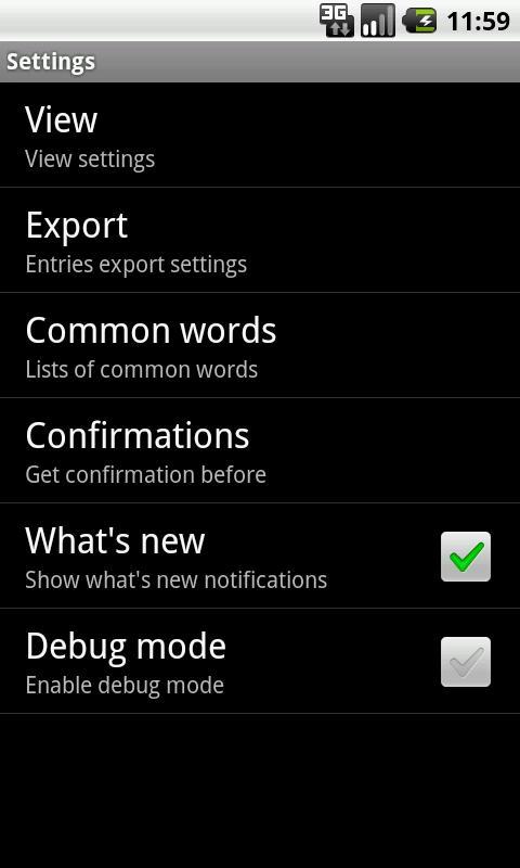 Expense Register- screenshot