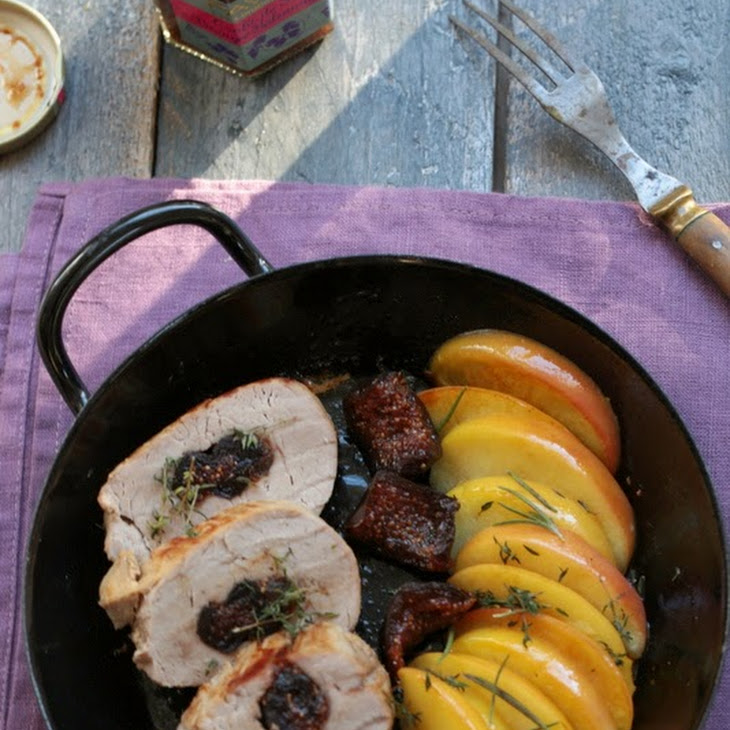 Pork Tenderloin with Apples and Favol Figs Recipe