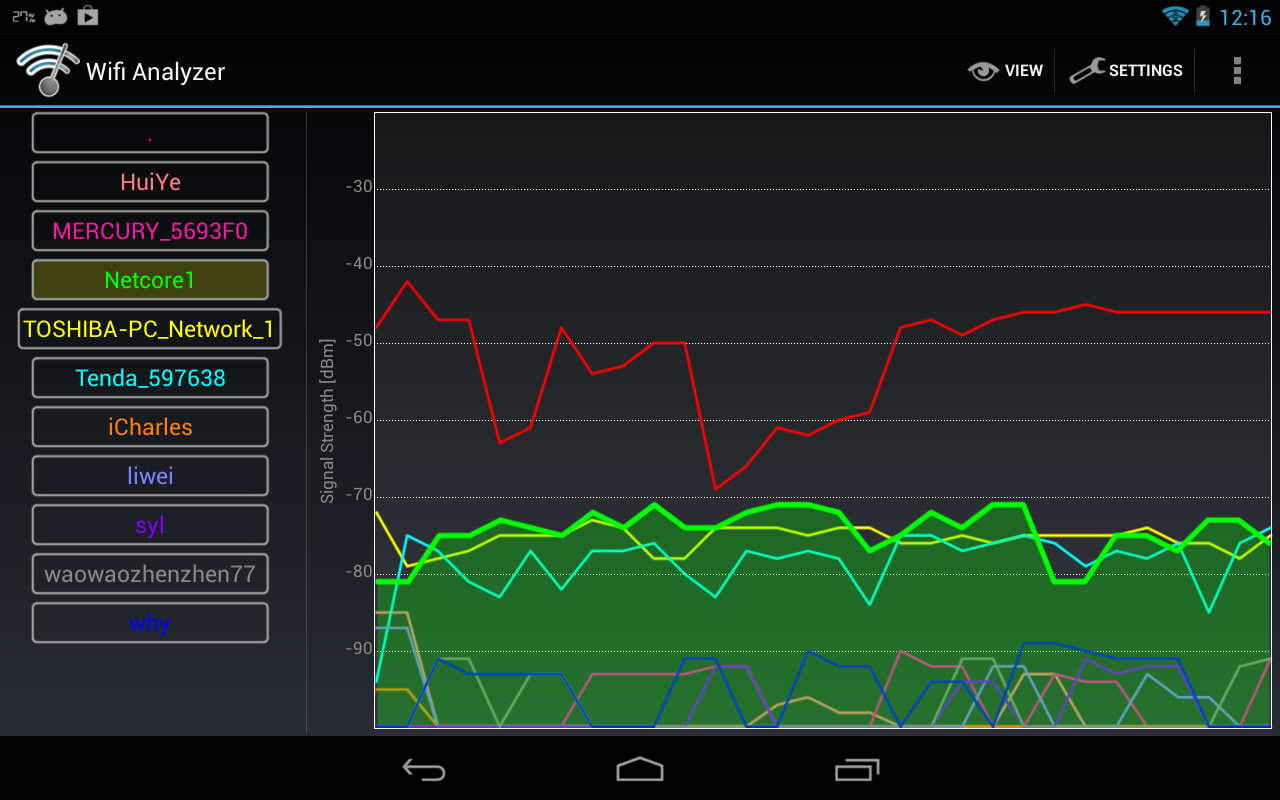 Wifi Analyzer - screenshot