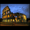 Great wonder : Roman Colosseum logo