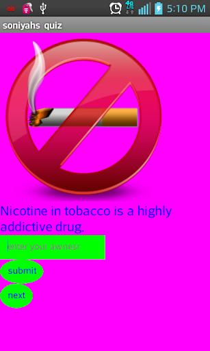 【免費益智App】Soniyah's Smoking Quiz-APP點子