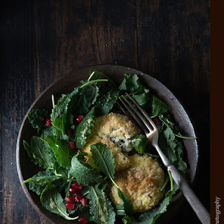 Salad with Baked Goat Cheese Tarragon Patties