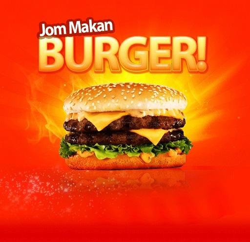 Burger terbakor