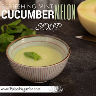 Refreshing Mint Cucumber Melon Soup.