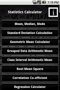 statistics calculator app