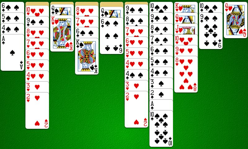spider solitaire 2 suites
