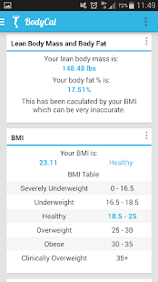 BodyCal (IIFYM, BMI, Body Fat) - náhled