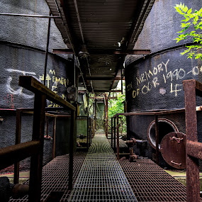Distill life by Andrew Hale - Buildings & Architecture Decaying & Abandoned ( graffiti, rust, decay, distillery, abandoned, building )