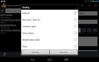 Screenshot of Rapid Inventory