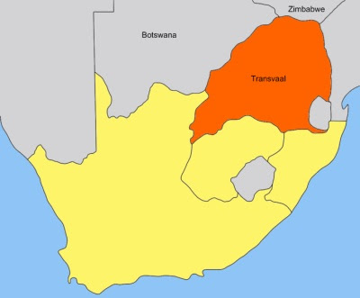 map of transvaal