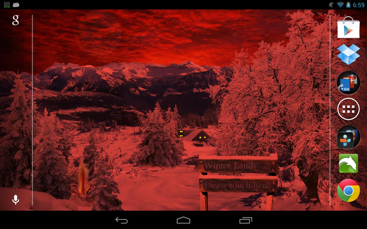 Winter Snow Live Wallpaper Pro- screenshot
