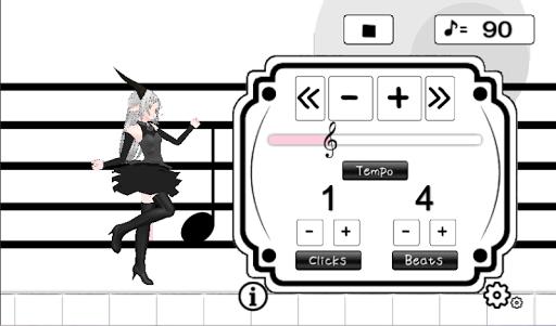 Cute characters metronome