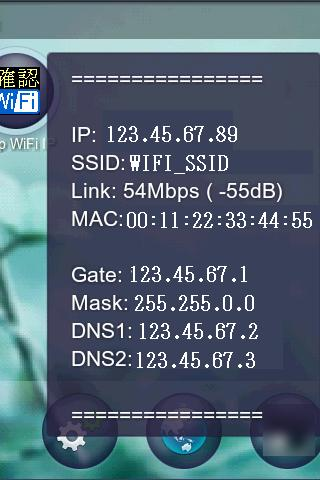 Display WiFi IP Address SSID - screenshot