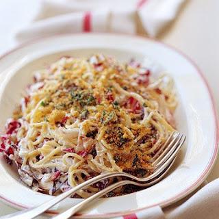 Spaghetti with Radicchio and Ricotta.