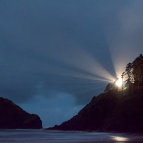 Heceta Head lighthouse from a couple of weeks ago. by Michael White - Landscapes Beaches