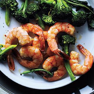 Roasted Shrimp and Broccoli