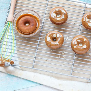 Caramel Glazed Doughnuts (nut-free option).