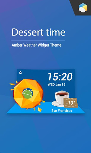 免費下載氣象預報app Dessert Style Weather Widget!準確預報天氣好用App
