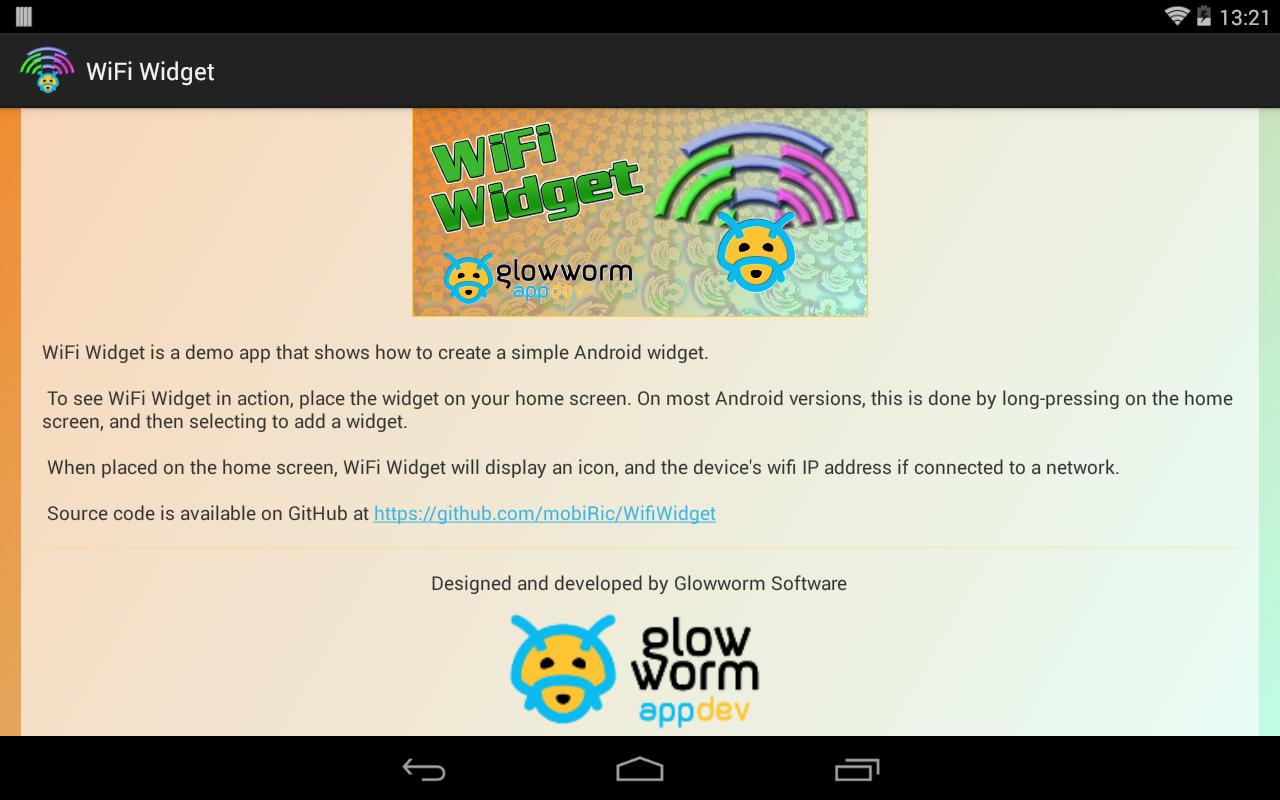 виджет wi-fi для андроид