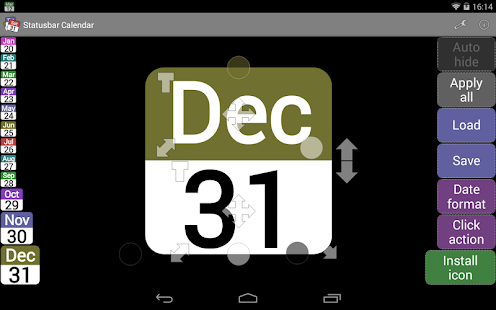 Status bar Calendar Demo - screenshot thumbnail