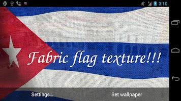 Screenshot of 3D Cuba Flag Live Wallpaper