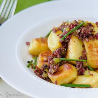 Crispy Potato Gnocchi with Pastrami Ragu