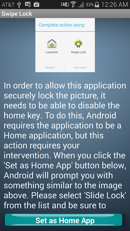 Swipe Lock- screenshot