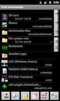 Screenshot of LAN plugin for Total Commander