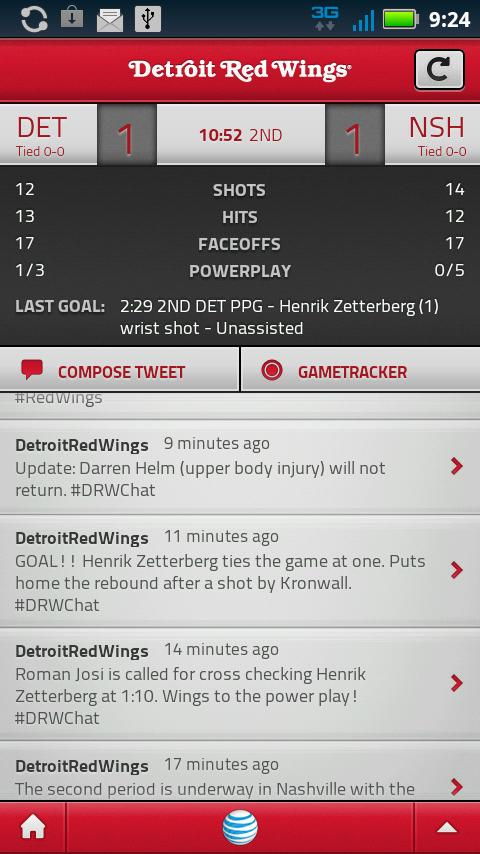 Detroit Red Wings Mobile - screenshot