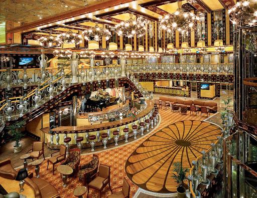 Carnival-Legend-Grand-Atrium - The Colossus Grand Atrium is the central hub of Carnival Legend.