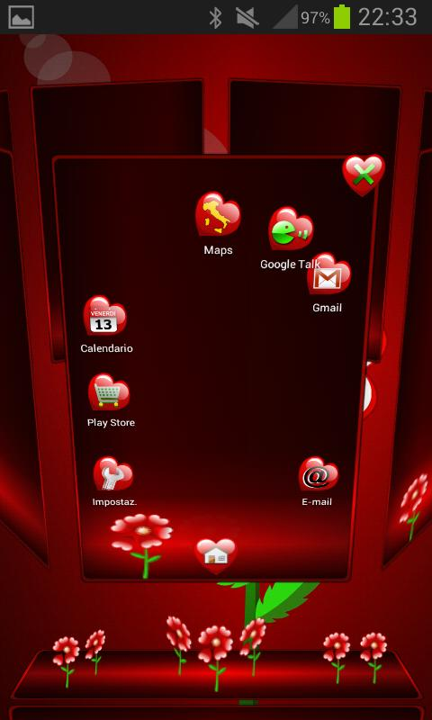 Valentine Next Launcher Theme - screenshot