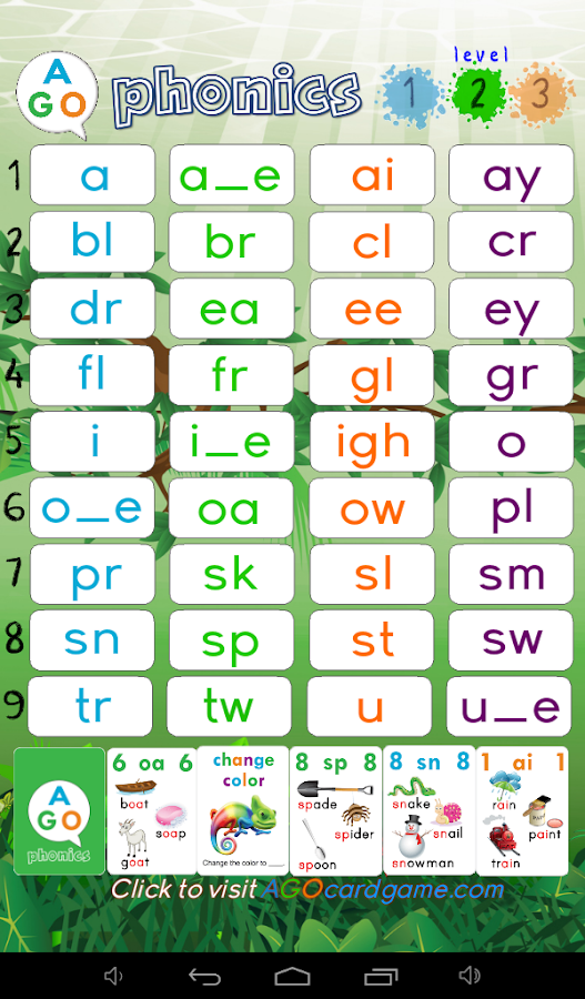 AGO Phonics Sound Pad- screenshot